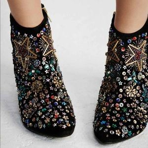 Free People Night Out Booties - size 8